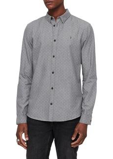 ALLSAINTS Montauk Slim Fit Dot Jacquard Sport Shirt