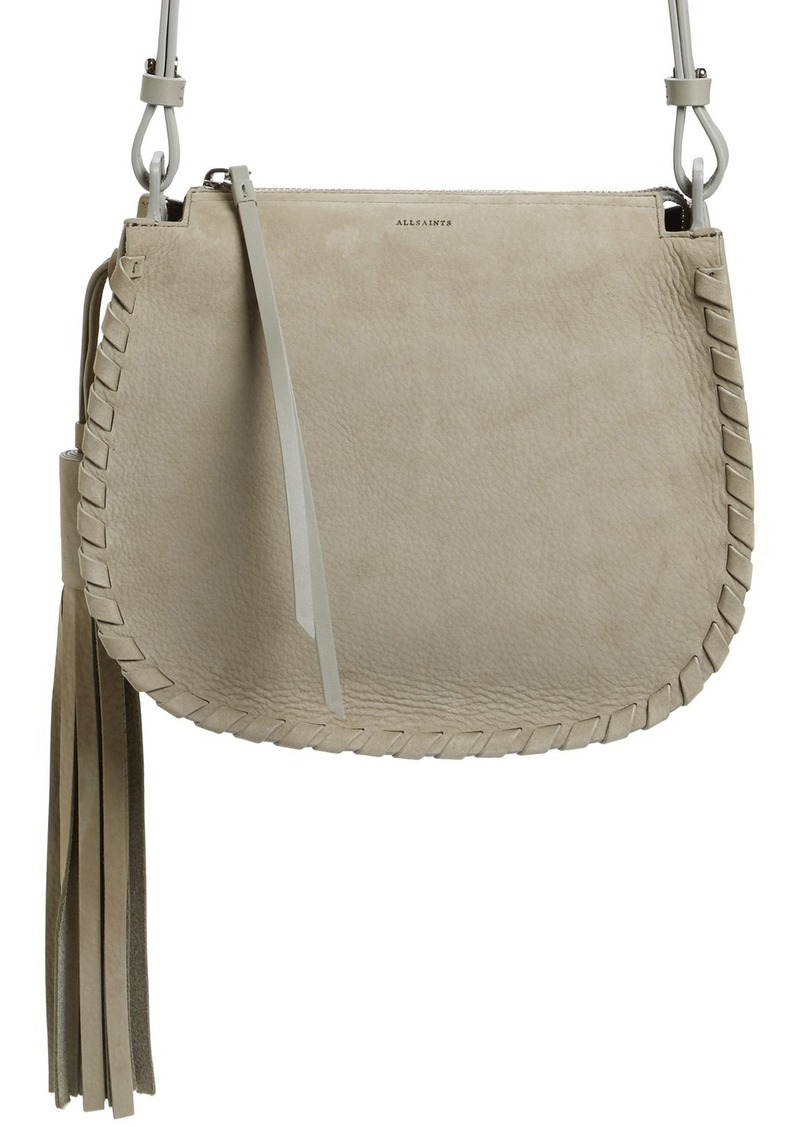 latest releases price differently AllSaints ALLSAINTS Mori Suede Crossbody Bag | Handbags