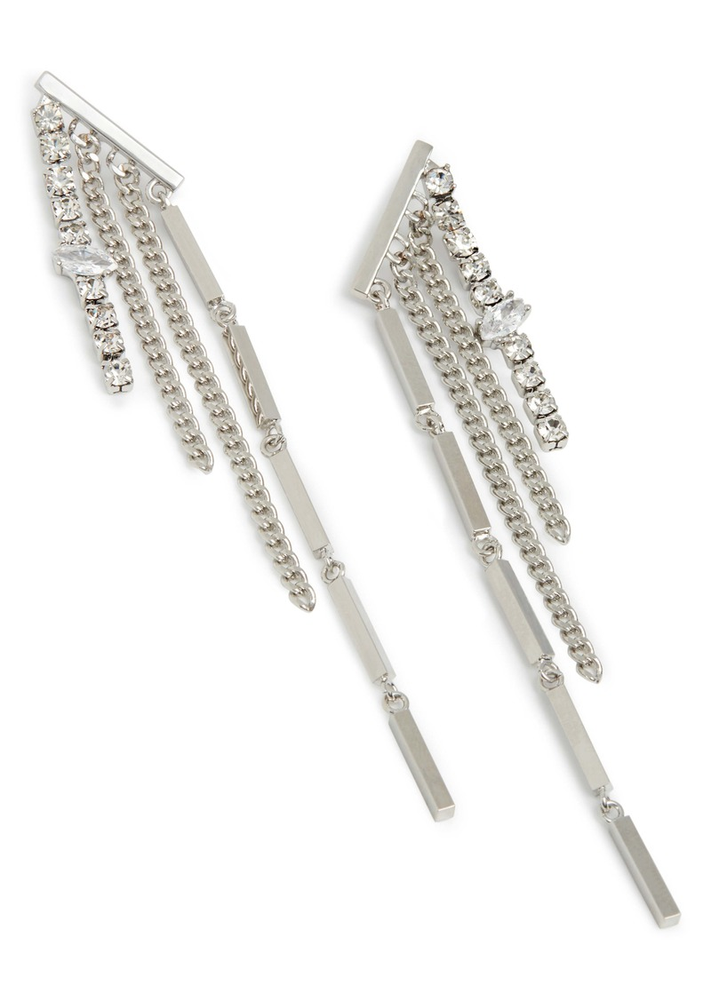ALLSAINTS Multi-Chain Fringe Earrings