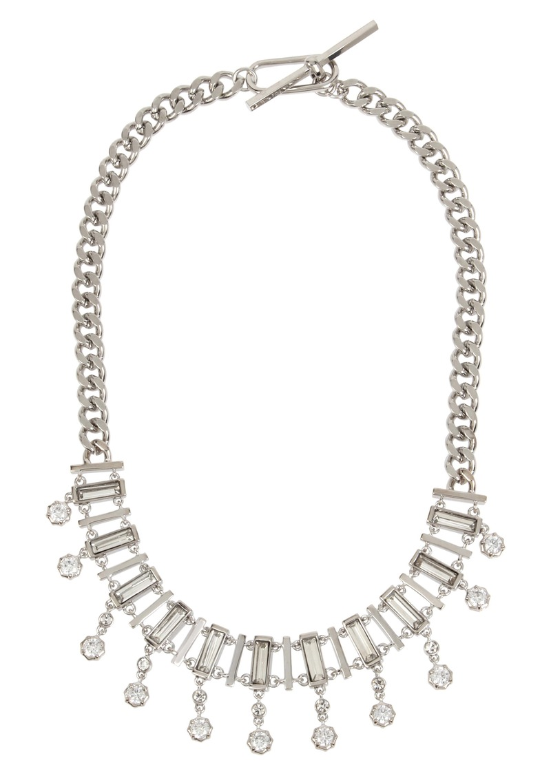 ALLSAINTS Multi Row Crystal Collar Necklace