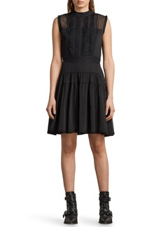 ALLSAINTS Myra Dot Pintuck Dress