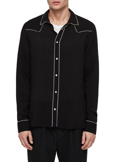 ALLSAINTS Nero Piped Western Sport Shirt