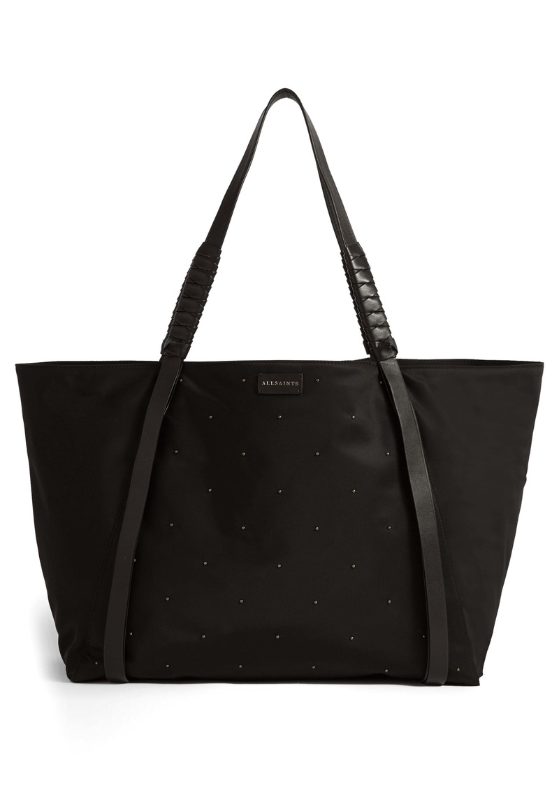 ALLSAINTS Nilo Studded East/West Nylon Tote