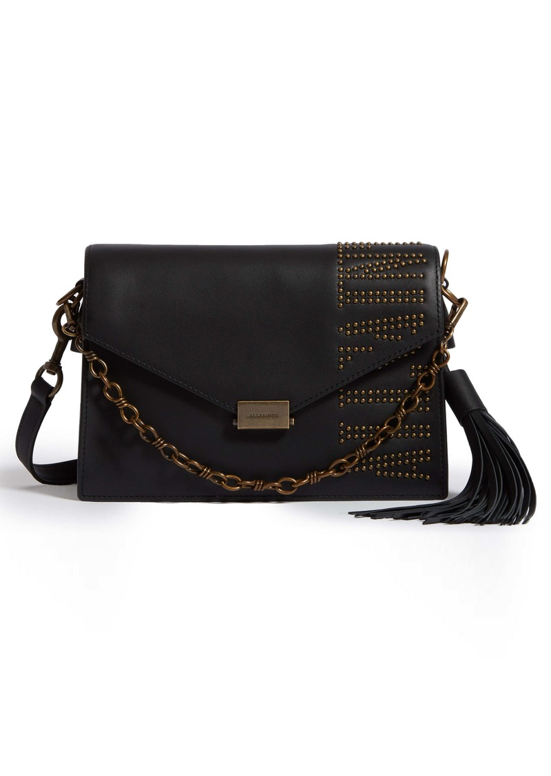 ALLSAINTS Nina Studded Leather Crossbody