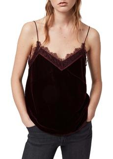 ALLSAINTS Noa Lace & Velvet Camisole