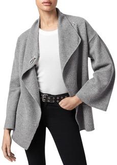 ALLSAINTS Nola Boiled Merino Wool Wrap Cardigan