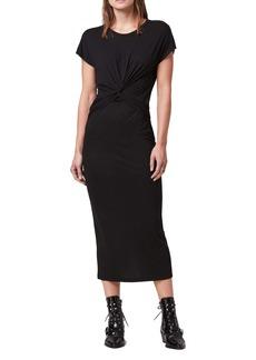 ALLSAINTS Paloma Shimmer Midi Dress