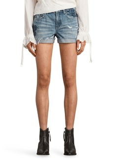 ALLSAINTS Pam Rose Embroidered Denim Shorts