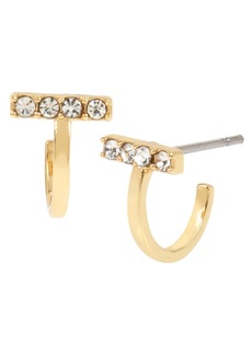 ALLSAINTS Pavé Bar Huggie Earrings