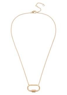 ALLSAINTS Pavé Crystal Pendant Necklace