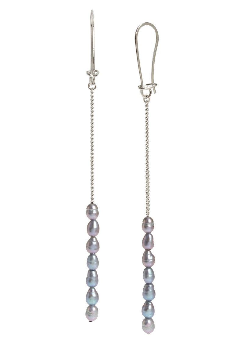 ALLSAINTS Pearl Linear Chain Earrings