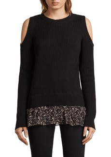 ALLSAINTS Pepper Cold Shoulder Sweater