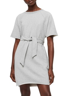 ALLSAINTS Petunia Tie Waist Sweat Dress