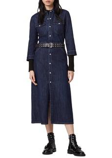ALLSAINTS Polly Denim Midi Dress