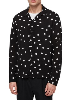 ALLSAINTS Pozere Polka Dot Sport Shirt
