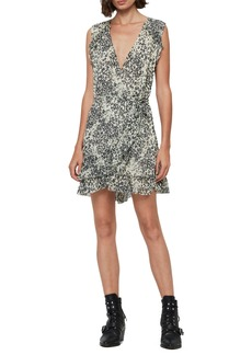 ALLSAINTS Priya Patch Leopard Print Sleeveless Dress