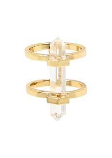 ALLSAINTS Quartz Double-Row Ring