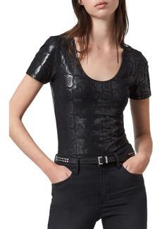 ALLSAINTS Raffi Snake Print Bodysuit