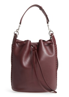 ALLSAINTS Ray Lea Leather Bucket Bag
