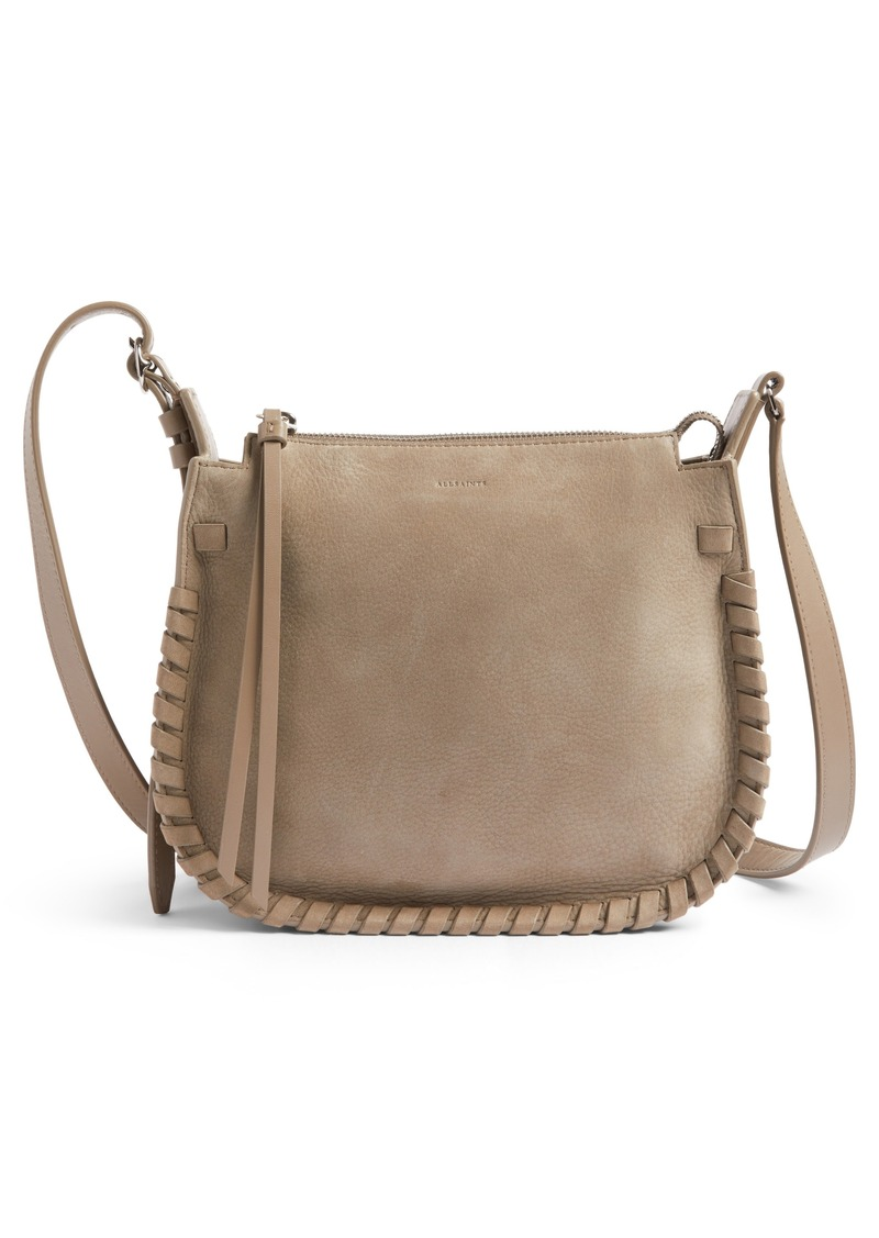 Allsaints Ray Nubuck Crossbody Bag Nordstrom Exclusive
