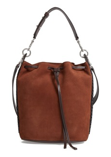 ALLSAINTS Ray Nubuck Leather Bucket Bag