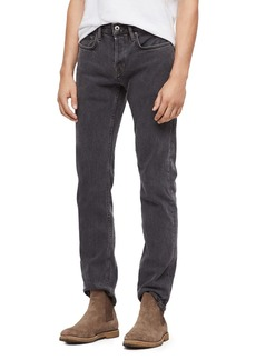 ALLSAINTS Reed Straight Fit Jeans in Washed Black