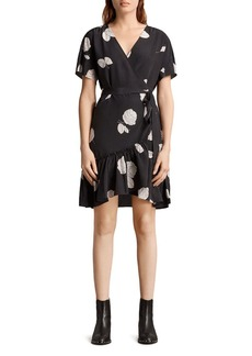 ALLSAINTS Rene Rodin Silk Wrap Dress