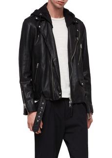 ALLSAINTS Renzo Slim Fit Leather Biker Jacket