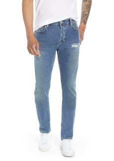 ALLSAINTS Rex Ripped Slim Fit Jeans (Indigo Blue)