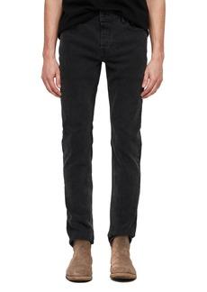 ALLSAINTS Rex Slim Fit Straight Leg Jeans (Smoke Black)