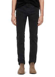 ALLSAINTS Rex Straight Skinny Jeans in Smoke Black