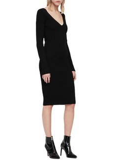 dfacacdf8b0 AllSaints ALLSAINTS Suzie Snap-Sleeve Sweater Dress
