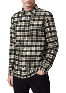 ALLSAINTS Ridgewood Regular Fit Plaid Flannel Button-Up Shirt