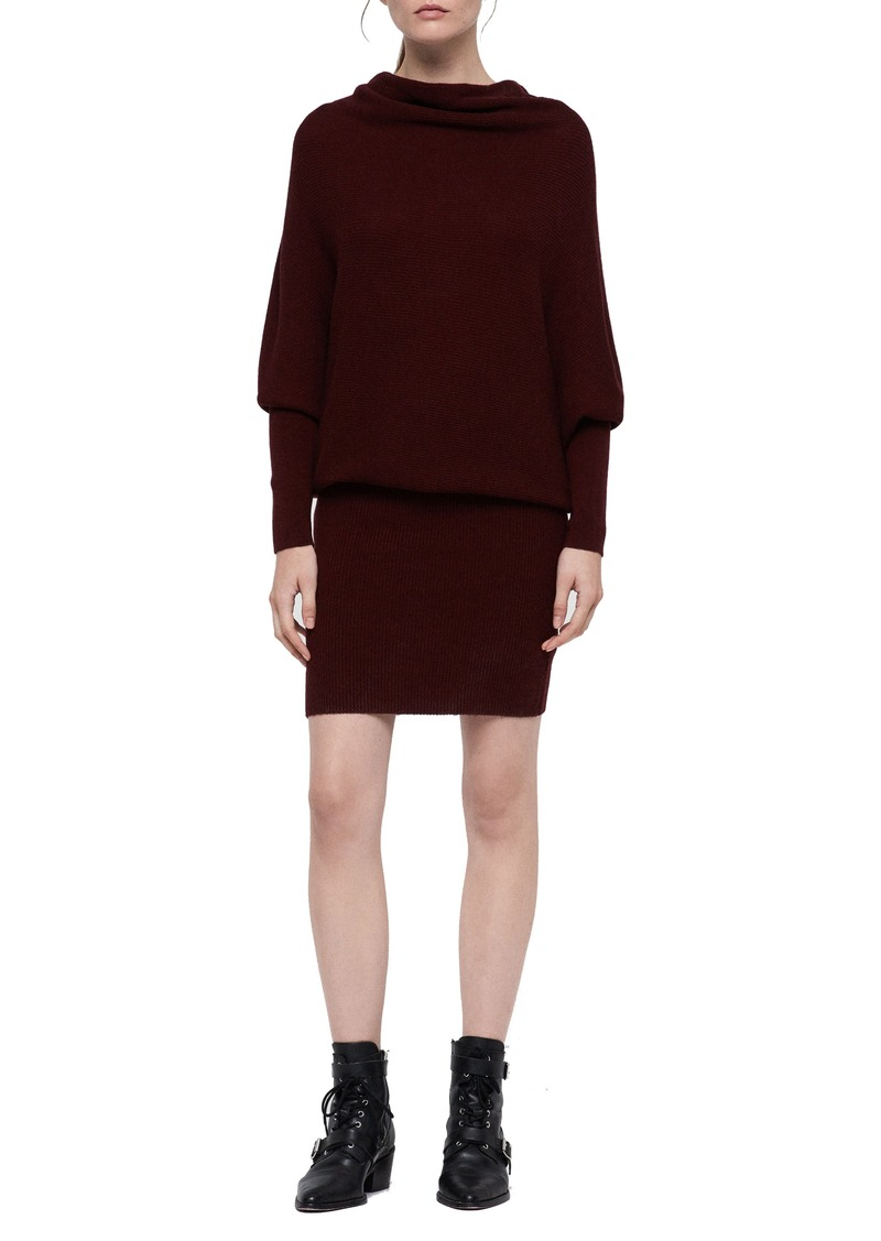 ALLSAINTS Ridley Wool & Cashmere Cowl Dress
