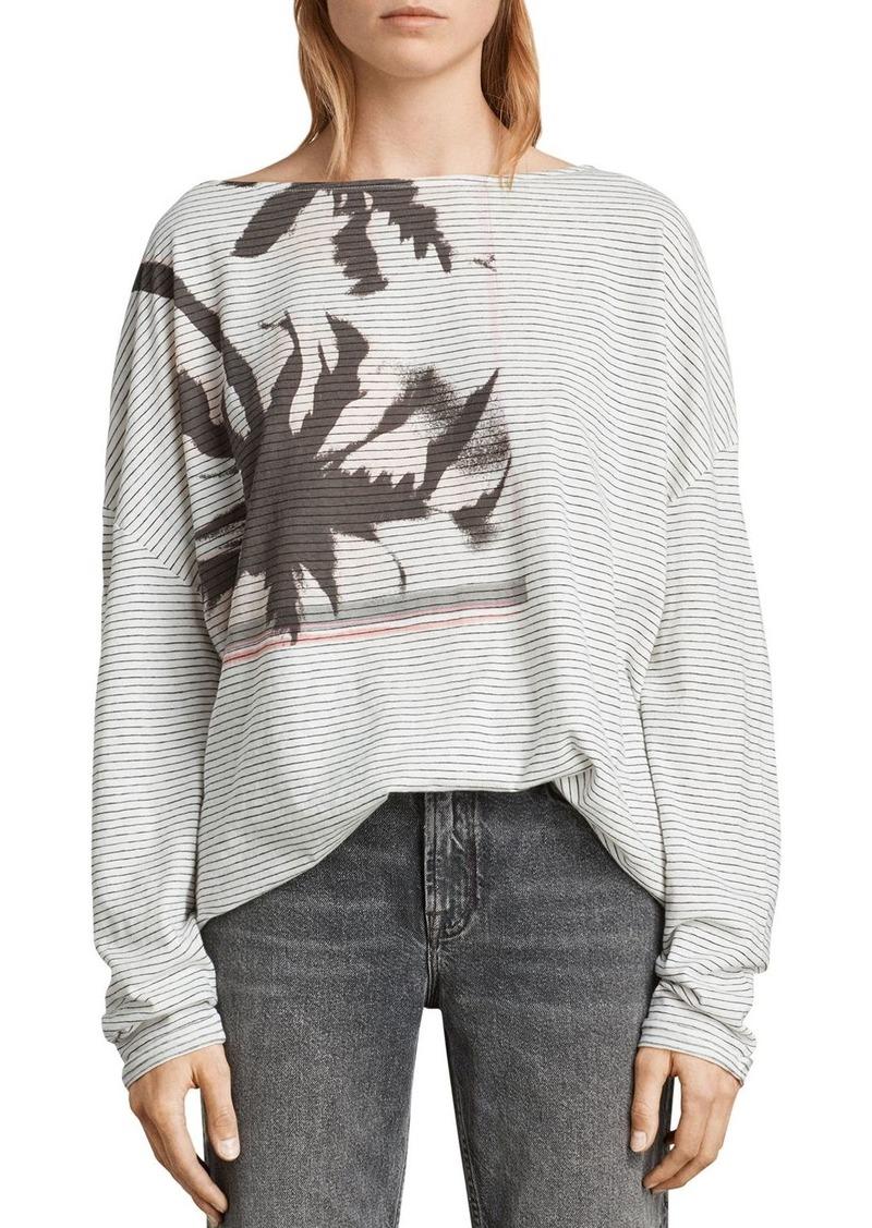 e936676c0 AllSaints ALLSAINTS Rita Bahia Striped Graphic Tee   Casual Shirts
