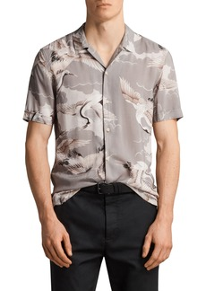 ALLSAINTS Romanji Slim Fit Short Sleeve Sport Shirt