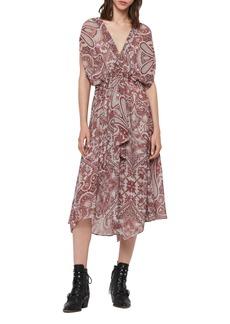 ALLSAINTS Romina Paisley Scarf Dress