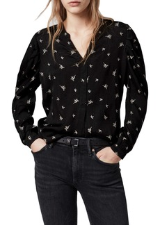 ALLSAINTS Rosi Embroidered Print Blouse