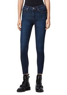 ALLSAINTS Roxanne Raw-Edge Skinny Jeans in Dark Indigo