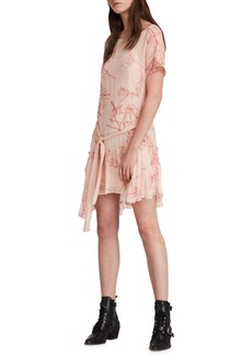 ALLSAINTS Sara Verity Embroidered Floral Dress