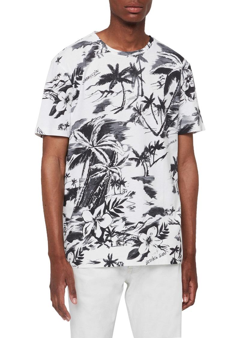 ALLSAINTS Seabreeze Slim Fit Print T-Shirt