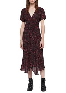 ALLSAINTS Seeta Rosey Midi Dress