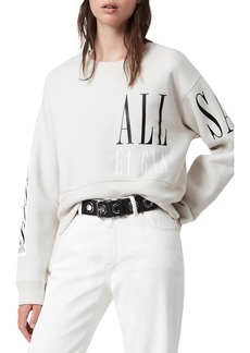 AllSaints Separo Eva Logo Cotton Blend Sweatshirt