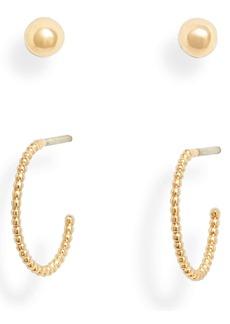 ALLSAINTS Set of 2 Stud & Huggie Hoop Earrings