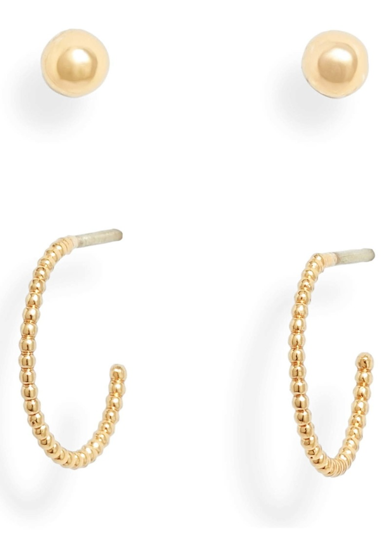 ALLSAINTS Set of 2 Stud & Huggie Hoop Earrings