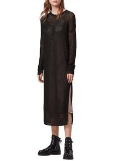 ALLSAINTS Shine Long Sleeve Two-Piece Mesh Dress