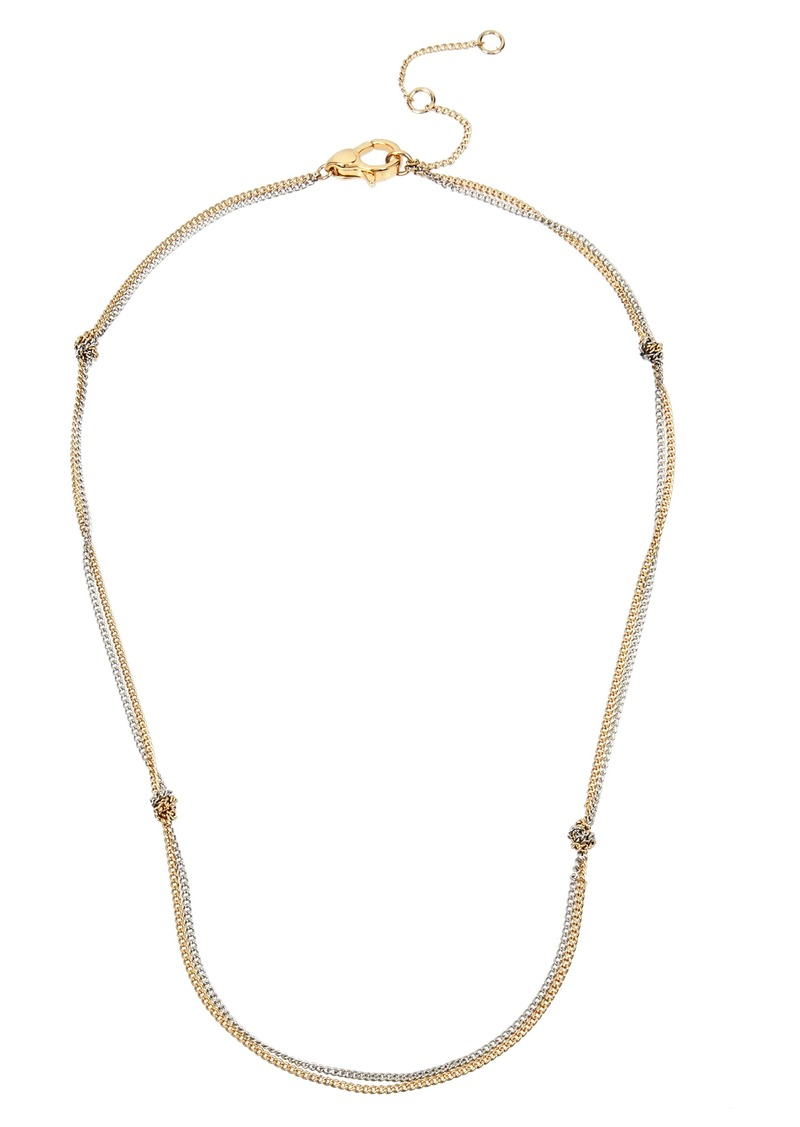 ALLSAINTS Short Knot Chain Necklace