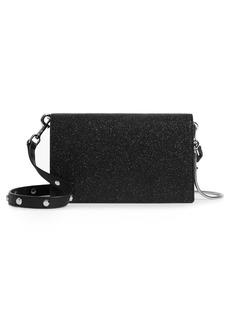 ALLSAINTS Sid Glitter Leather Crossbody Wallet