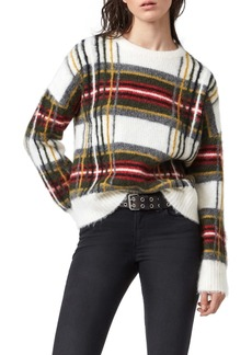 ALLSAINTS Side Check Sweater