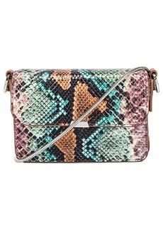 ALLSAINTS Silver Mini Flap Bag